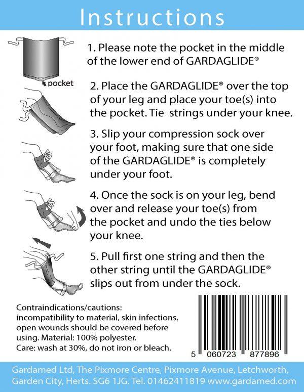 Gardaglide sock aid - closed toe stockings